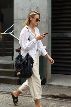 how to style a white button down for summer