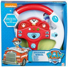 e37fa9ccb46 Paw Patrol Marshall Boys Steering Wheel Beep the Horn Sou... https
