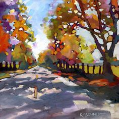 "KMSchmidt Landscape Paintings ""Sunday Drive"""