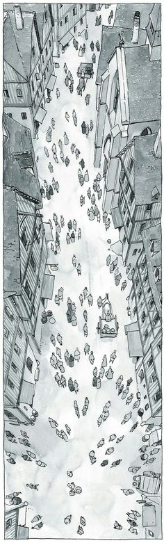 I love this wonderfully unusual perspective. The post I love this wonderfully unusual perspective. :) appeared first on street. Cool Drawings, Drawing Sketches, Disney Drawings, Drawing Eyes, Storyboard, Poses References, Perspective Drawing, Architecture Drawings, Urban Sketching