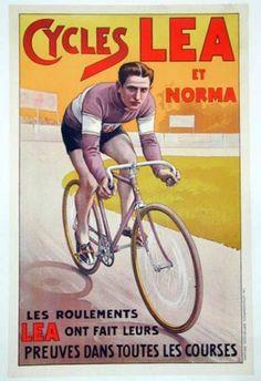 Vintage Poster. Cycles LEA et Norma