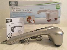 HoMedics * With Heat * Compact Percussion Massager Handheld 2 Speed Full Body #Homedics