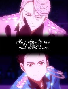 'Stay close to me and never leave. on Ice' Photographic Print by kiiroi Framed Prints, Canvas Prints, Art Prints, Yuri On Ice, Never, Line Art, Ships, Quotes, Movie Posters