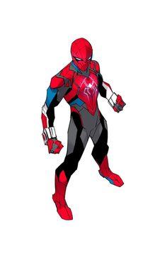 Marvel Art, Marvel Dc Comics, Marvel Heroes, Spiderman Kunst, Spiderman Pictures, Scarlet Spider, Iron Man Armor, Superhero Characters, Superhero Design
