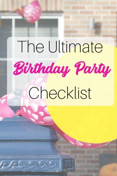 Planning a birthday party can be stressful! Grab this birthday party checklist to get organized and plan an awesome party! Use Trello to get organized and get a free checklist A Birthday Party, Birthday Party Checklist, Party Planning Checklist, Event Planning, Birthday Stuff, Birthday Celebration, Parenting Plan, Foster Parenting, Parenting Books