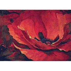 Wandtapijt  Desiree met klaproos. Verkrijgbaar bij www.fijndesign.nl.