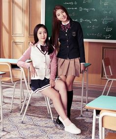 161130 • #Sowon #Sinb for SMART Uniform update @sowonation @sinbupdates