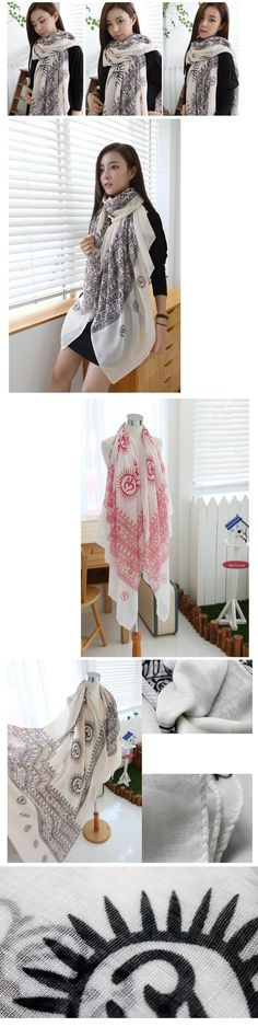 Cheap bohemia style vintage print red scarf 180*100cm fs0471 [fs0471]- US$15.00 outlet free shipping with top quality - scarves4ever.com