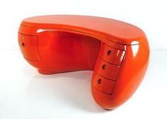 maurice calka bureau boomerang for Leleu Deshays, 1970. Organic design.