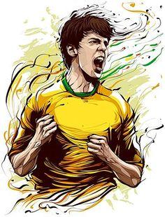 Fifa world cup art. Ricardo Kaka, Equipement Football, Coreldraw, Cup Art, Vector Portrait, Portrait Illustration, Digital Illustration, Trx, Football Players