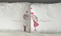 I love you too Pillow Cases Funny Gift Valentine's Day Wedding Perfect Couple…
