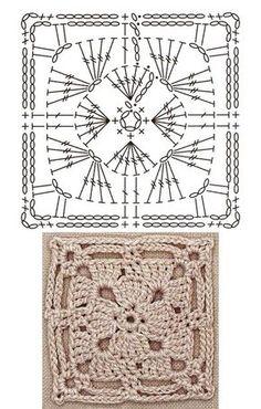 Crochet Square Patterns The Ultimate Granny Square Diagrams Collection ⋆ Crochet Kingdom - The Ultimate Granny Square Diagrams Collection. Crochet Motifs, Crochet Blocks, Granny Square Crochet Pattern, Crochet Diagram, Crochet Chart, Crochet Squares, Crochet Granny, Crochet Stitches, Crochet Patterns