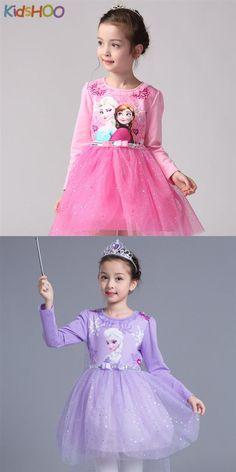 Toddler Girls Frozen Elsa Long Sleeves Sequins Princess Tutu Dress Girl Tutu, Princess Tutu, Tutus For Girls, Elsa Frozen, Toddler Girls, Cute Dresses, Designer Dresses, Harajuku, Sequins