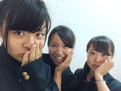今日は楽しかった♩ いっちゃんとなつ面白すぎやし(^○^) しかも学ラン始めて着た!‼︎笑 文化祭も近いし頑張ろね^ ^