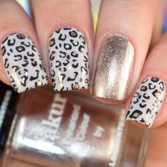 Nail art Christmas - the festive spirit on the nails. Over 70 creative ideas and tutorials - My Nails Fancy Nails, Gold Nails, Pink Nails, Cute Nails, My Nails, Best Acrylic Nails, Acrylic Nail Designs, Nail Art Designs, Nails Design