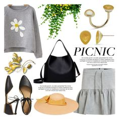 """Picnic in the Park"" by littlehjewelry ❤ liked on Polyvore featuring Object Collectors Item, Gap, Sensi Studio, picnic, contestentry, pearljewelry and littlehjewelry"