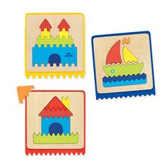 Feely Puzzles - A great sensory resource, this product is perfect for stimulating childrens sense of touch. Each of the puzzles has a different shaped edge and the template shape is repeated on the edge of the puzzle so children must use their logic to place the pieces correctly. They can also play blindfolded to increase the difficulty and test their fine motor skills.