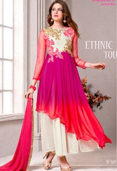 Pink Georgette Designer Suit..@ fashionsbyindia.com #designs #indian #womens…