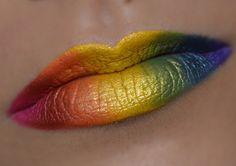 Rainbow Lips, MakeUp by Samantha Linn