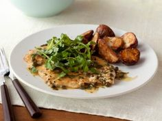 Chicken Piccata - 326 mg of sodium per serving. Leave out the added salt!