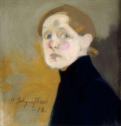 Helene Schjerfbeck · Autoritratto · 1912 · Ubicazione ignota