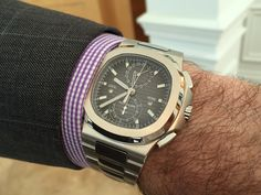 Design and utility! Two complications in the iconic Nautilus case - chronograph capability and dual time zone:  The new Patek Philippe 5990/1A Nautilus Travel Time Chronograph