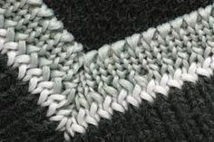 How you knit a mitered corner on a baby blanket depends on how you are knitting the border. If you are knitting a border parallel to the blanket edge — knitting around the completed blanket — you'll use increases to make the mitered corner. Knitting Help, Knitting Stiches, Knitting Yarn, Crochet Stitches, Baby Knitting, Knitting Short Rows, Simple Knitting, Knitted Baby, Knitted Dolls