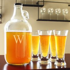 Engraved Craft Beer Growler & Tasters Set