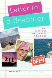 Letter for a dreamer – Meet Nita