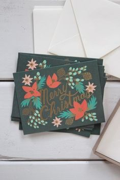 Wintergreen Christmas Cards, Boxed Set of 8