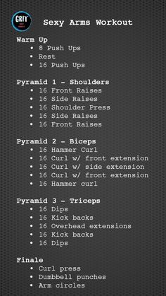 Sexy Arms Workout...Yup! Doing this.