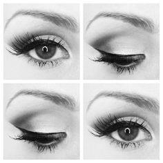 eyes, make up, and makeup image Perfect Winged Eyeliner, Winged Liner, Eye Liner, Makeup Inspo, Makeup Inspiration, Makeup Ideas, Makeup Hacks, Makeup Tips, Beauty Nails