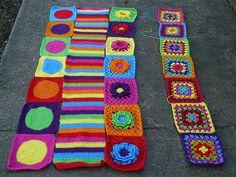 nearly completed crochet blanket, crochetbug, crochet groovyghan, crochet flowers, crochet afghan, granny square blanket