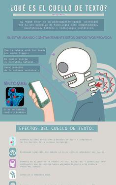 """El """"text neck"""" es un dolor físico provocado por el uso excesivo de la tecología…"""