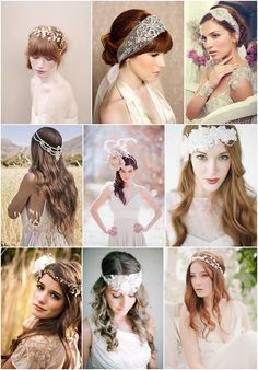 boho bridal accessories on French Wedding Style