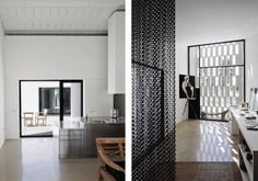 Careful framing creates visual connection, while screens of different scale add texture     House for a Photographer II by Carlos Ferrater and Carlos Escura