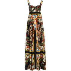 Dolce & Gabbana Long Dress (18,135 MXN) ❤ liked on Polyvore featuring dresses, gowns, vestidos, maxi dresses, black, sleeveless gown, square neckline dress, square neck dress, cotton gown and dolce gabbana dresses