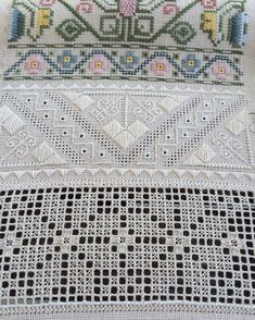 """My Proper Stitch #sampler is growing . There is going to be another #whitework row with very interesting variety of stitches / мой самплер продвигается…"""
