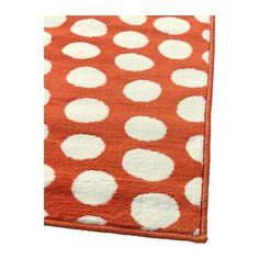would love this rug under the kitchen table - 4x6 (Ikea Ullgump Area Rug Low Pile Modern Carpet Orange) only $50!