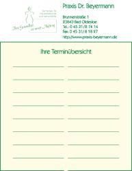 Terminzettel für Arztpraxen