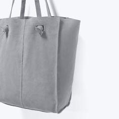 ZARA - SHOES & BAGS - SUEDE SHOPPER BAG