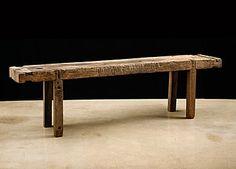 Raw Vintage Belgian Work Table  alhambra antiques
