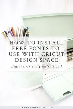 How To Install Custom, Free Fonts in Cricut Design Space - Beginner Friendly! Includes easy-to-follo Mason Jar Crafts, Mason Jar Diy, Crafts For Teens To Make, Diy And Crafts, Hobby Lobby, Hobby Room, Free Fonts For Cricut, Cricut Craft Room, Cricut Tutorials