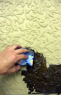 Painting Lincrusta Wallpaper with Pigments and Crescent Bronze