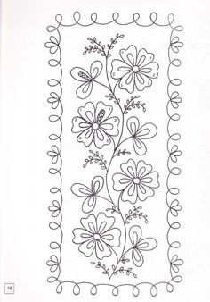 Flowers with border