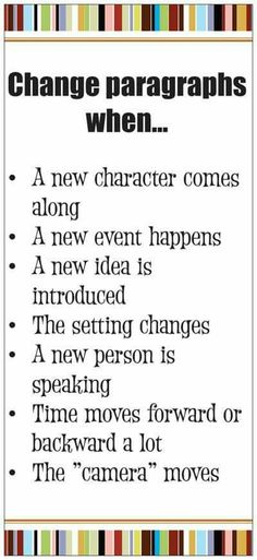 Ideas for teaching when to start a new paragraph in narrative writing - this pin goes to a product but I pinned it as an example of ideas to add to an anchor chart on this topic Book Writing Tips, Writing Resources, Teaching Writing, Writing Help, Writing Skills, Writing Activities, Paragraph Writing, Writing Services, Writing Strategies