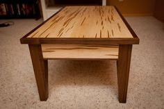 Walnut and Ambrosia Maple Coffee Table Walnut Coffee Table, Coffee And End Tables, Walnut Table, Maple Furniture, Wood Furniture, Furniture Design, Woodworking Furniture Plans, Woodworking Projects, Farmhouse Table Plans