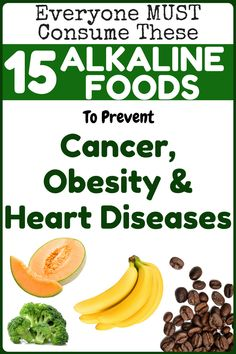 15 Alkaline Diet Foods that Prevent Heart Disease, Obesity and Cancer – Healthy Life Alkaline Diet Recipes, Raw Food Recipes, Healthy Recipes, Fast Recipes, Healthy Desayunos, Healthy Living, Cancer Fighting Foods, Ayurveda, Health Remedies