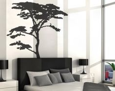 realistic african tree wall decal headboard wall decal home decor stick on wall art by decalisland tree decals for walls african sd 002