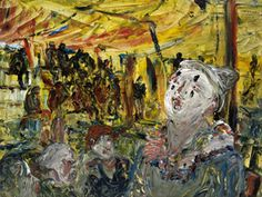 """Jack B. Yeats """"The Singing Clown"""" 1928 Oil on canvas Courtesy of The Model Arts and Niland Gallery"""